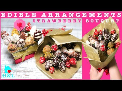 How to make EDIBLE ARRANGEMENTS (STRAWBERRY BOUQUET)|| Health and Lifestyle