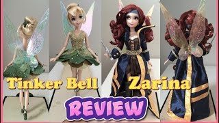 Tinker Bell And Zarina Dolls REVIEW - Disney Designer Fairy Collection