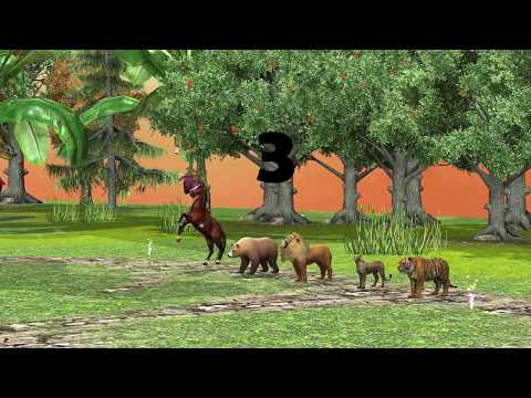 Animal Race For kids - Horse, Bear, Lion, Cheetah and Tiger Race for Children