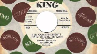 TEN COMMANDMENTS (FROM WOMAN TO MAN)   PRINCESS BUSTER AND HER JAMAICANS