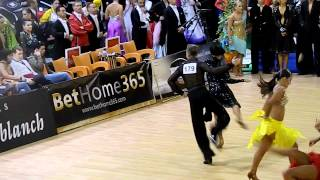 WDSF Cambrils - International Latin - Round 1 - Alexey Boychenko & Alisa Sadovnikova - jive