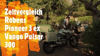 Zeltvergleich Vango Pulsar 300 Robens Pioneer 3 EX