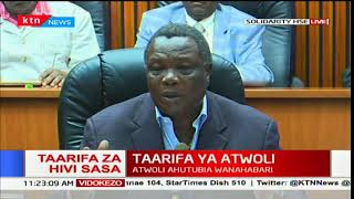 COTU Secretary General Francis Atwoli calls upon political leaders to dialogue