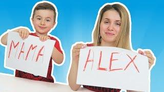 CINE DINTRE VOI? #2 Challenge   MAMICA vs ALEX   Cine e Alintat? Cine e mai Copilaros?