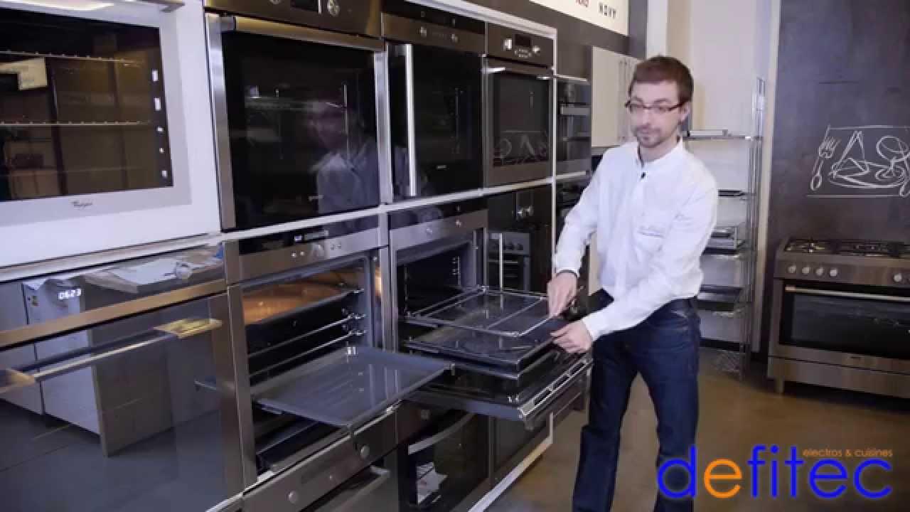 Four multifonctions vapeur clean 90 cm smeg sf93 for Les cuisines encastrables