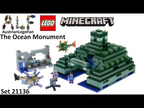 Vidéo LEGO Minecraft 21136 : Le monument sous-marin