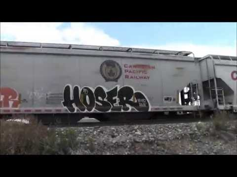 BENCHING FREIGHT TRAIN GRAFFITI 2016- Video #114