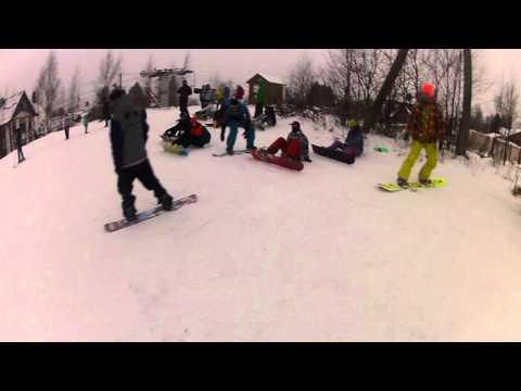 Видео: Видео горнолыжного курорта Северный склон в Ленинградская область