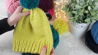 How To Knit A Hat - Beginners Easy Circular Knitting Tutorial
