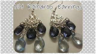DIY Raindrop Chandelier Earrings