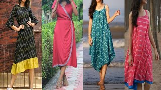 Daily Wear Cotton Dress Designs Ideas For Summer, Knee Length Cotton Dresses For Girls And Teenager