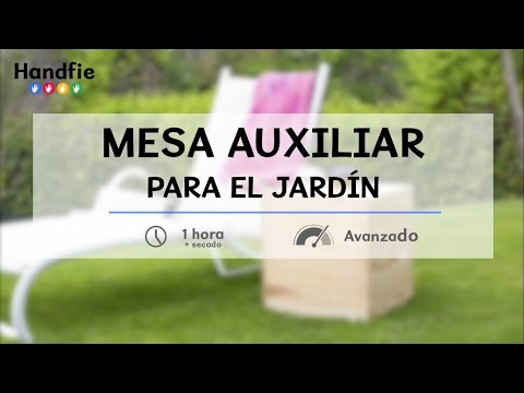 Como hacer una mesa auxiliar para el jardín · Handfie DIY