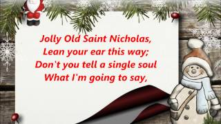 JOLLY OLD SAINT ST. NICHOLAS  NICKOLAS WORDS lyrics CHRISTMAS best trending sing along songs