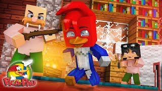 Minecraft Who's Your Family? - O BEBÊ DO LEONCIO VS PICA-PAU ( Woody Woodpecker O Filme )