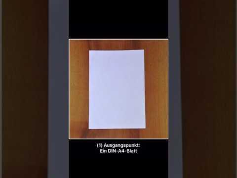 Tischaufsteller aus einem DIN-A4-Blatt
