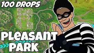 I Dropped Pleasant Park 100 Times and This Is What Happened (Fortnite)