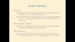 Insulin Regimens - CRASH! Medical Review Series