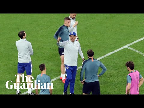 Maurizio Sarri Storms Out Of Chelsea's Final Europa League Training Session