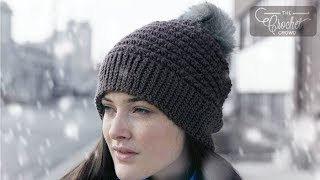 Crochet 5 Star Beanie Hat Pattern