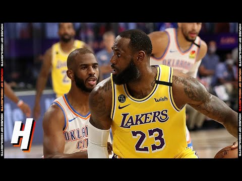 OKC Thunder vs Los Angeles Lakers – Full Game Highlights | August 5, 2020 | 2019-20 NBA Season