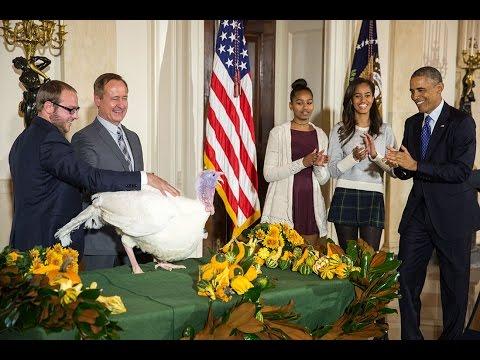 Presedintele Barack Obama a gratiat un curcan de Ziua Recunostintei – VIDEO