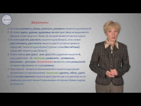 Правописание гласных и согласных в приставках