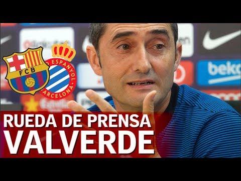 Barcelona - Espanyol | Rueda de prensa previa Valverde | Diario AS