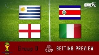 World Cup Betting 2014: Group D Betting Odds Report