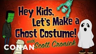 A Last-Minute Ghost Costume In 4 Simple Steps! - CONAN On TBS