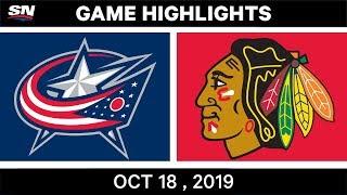 NHL Highlights | Blue Jackets vs. Blackhawks – Oct. 18, 2019