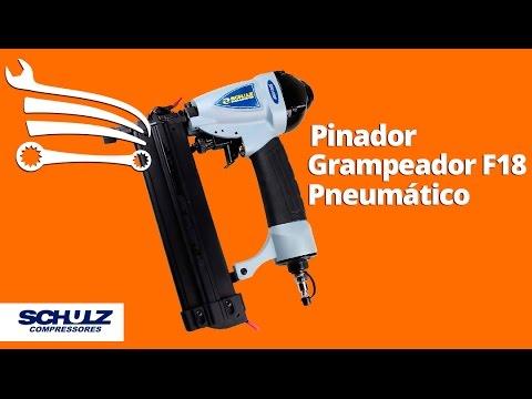 Pinador/Grampeador F18 Pneumático - Video