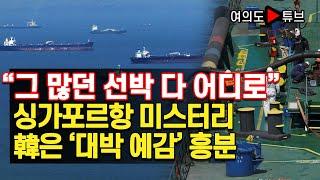 """[여의도튜브] """"그 많던 선박 다 어디로"""" 싱가포르항 미스터리 韓은 '대박 예감' 흥분 /머니투데이방송"""