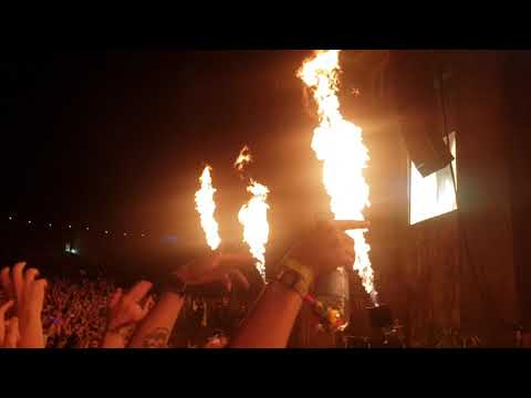 Die antwoord  Boomtown 12/08/2018 babys on fire and I think you freaky (видео)