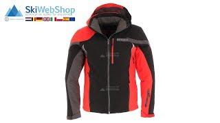 Spyder, Trigger, ski-jas, heren, zwart/volcano rood/polar grijs