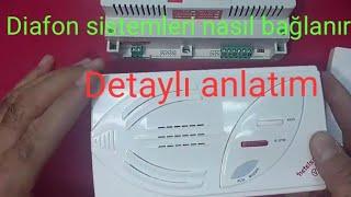 Diafon sistemi nasıl bağlanır