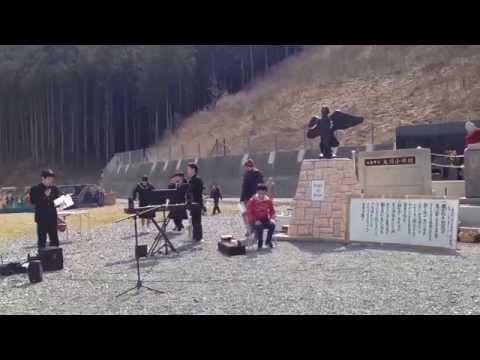 富士市立元吉原中学校の生徒が 宮城県石巻市大川小学校校歌を唄ってくれました。その1