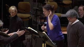 Simon Rattle rehearses Ligeti's Aventures
