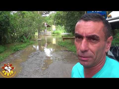 Rio Juquiá transborda e invade as Estrada de Juquitiba e compromete o Transporte Escolar