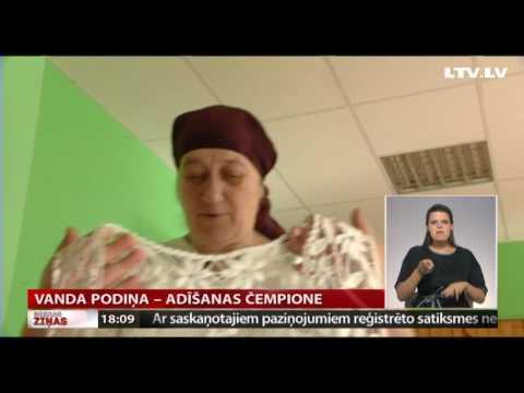 VIDEO: Intervija ar starptautiskā adīšanas čempionāta uzvarētāju Vandu Podiņu