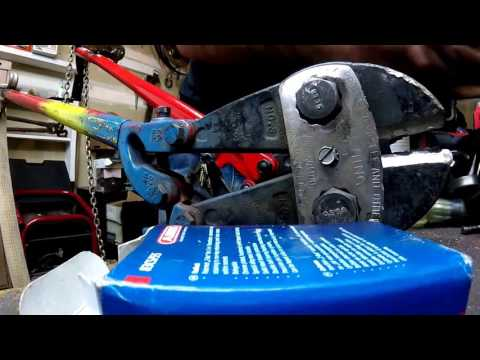 Bolt Cutters VS. ABUS 83/80  Padlock Review Re-key Rekeying VS Angle Grinder