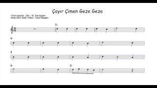 Nota Akor Eşlik - Çayır Çimen Geze Geze ( La ) C Instruments