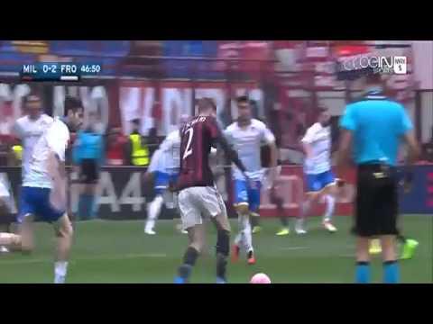 Mario Balotelli Miss Penalty Kick AC Milan vs Frosinone 0 2 Serie A 2016