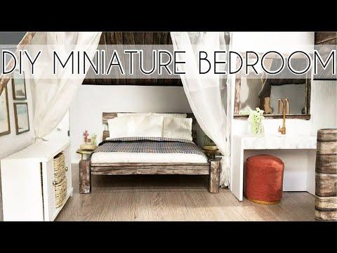 DIY Barbie Furniture (Miniature Bed, Bathroom, Cabinet & More)