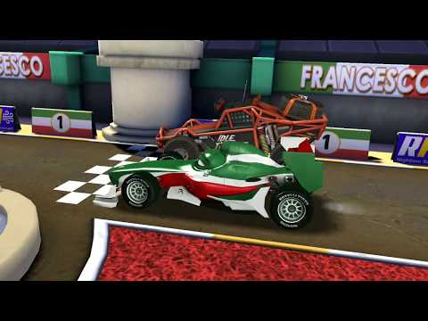 Italian Francesco Bernoulli Vs Idle Monster Truck & Lightning McQueen Race | Disney Pixar Cars Game