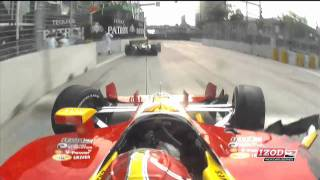 Tony Kanaan and Helio Crash at Baltimore