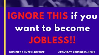 IGNORE THIS if you want to BECOME JOBLESS!! | Future of Jobs in India