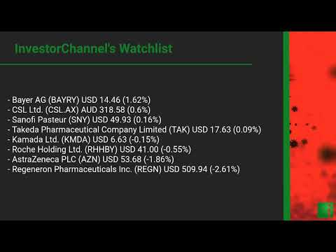 InvestorChannel's Covid-19 Watchlist Update for Tuesday, N ... Thumbnail