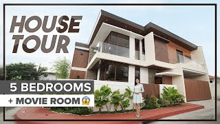 House Tour 14 ||  Beautifully Designed Corner House in Greenwoods Cainta | 5 Bedrooms and Movie Room