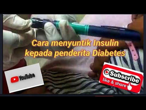 Video cara menyuntik diabetes
