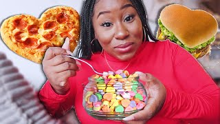 I ONLY ATE HEART SHAPED FOODS FOR 24 HOURS!